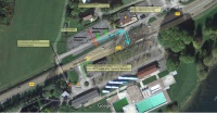 Plan de circulation accès piscine Chalezeule
