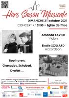 Concert de musique le 31 octobre 15h30